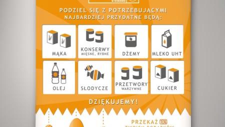 Plakat – zbiórka żywności